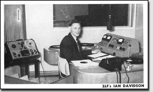 2LF publicity postcard - 1958